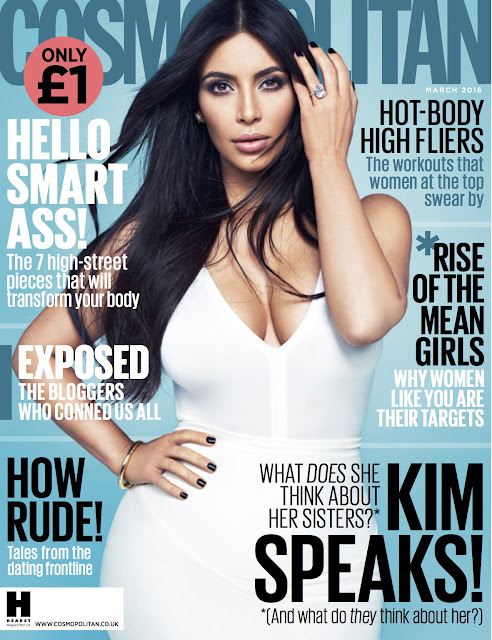 Actress, Model, @ Kim Kardashian for Cosmopolitan UK, March 2016