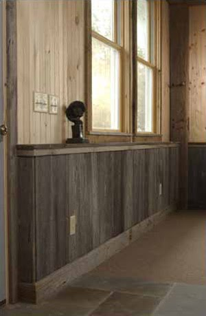 life's too short to live in houston!: barn wood wainscoting