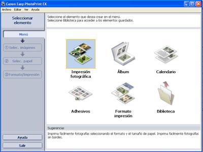 Software para imprimir fotos canon