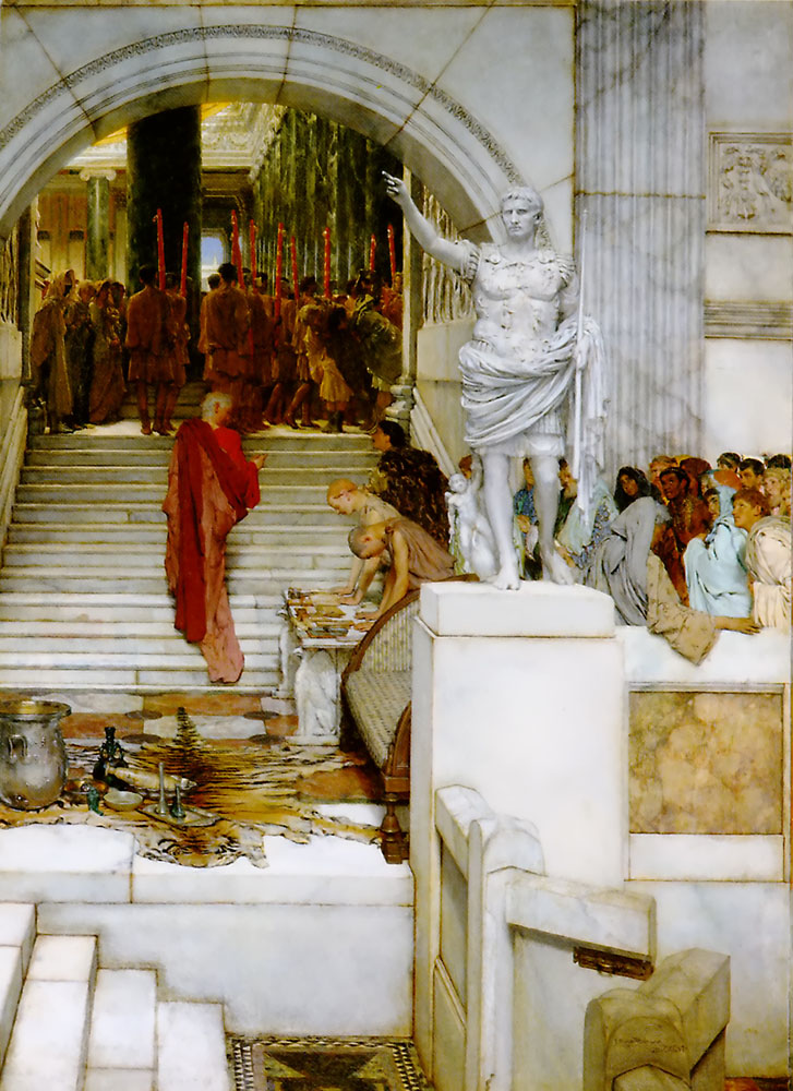 alma-tadema audience painting