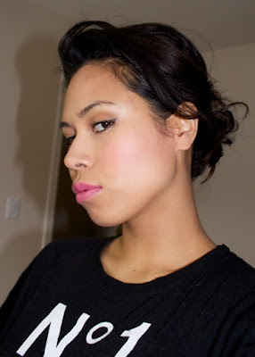 bright pink cheeks makeup look nyx