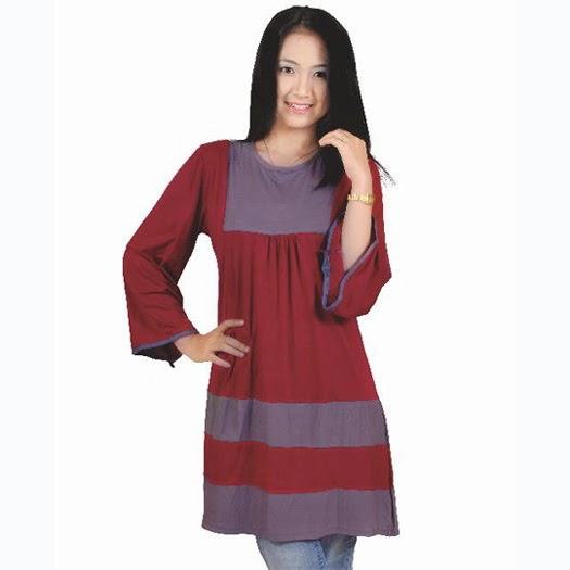 baju wanita blus bahan spandek