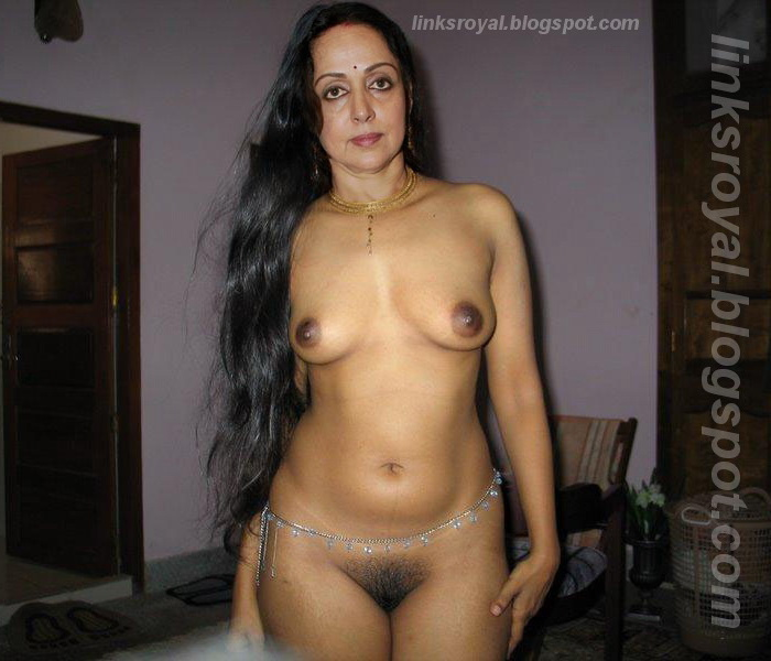 Hema Malini mature Bollywood queen full nude hairy pussy big tits ...