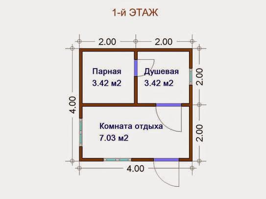 Баня своими руками проекты фото 4х2 - Leksco.ru