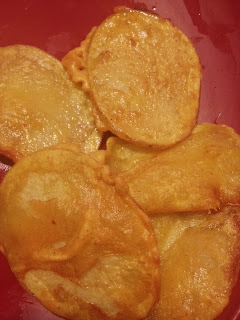 Potato Bhajia,Crispy Aloo bhajia