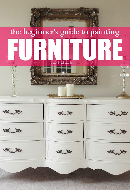 The beginner's guide to painting furniture. Awesome tips!