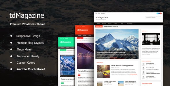 tdMagazine v2.0 - Themeforest WordPress News Theme