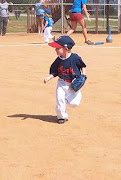 Wyatt playing TBall in 2011, age 3
