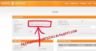 RAPIDGATOR premium accounts proof