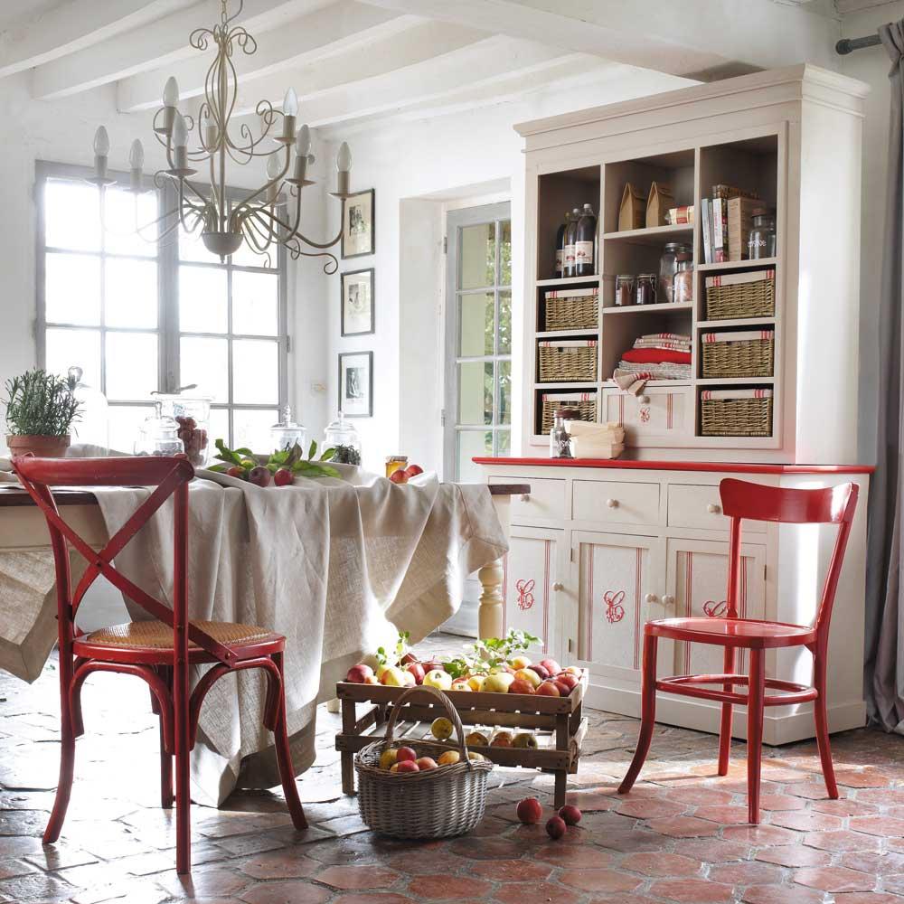 La casita de papel r stico rojo combinaci n ganadora for Chaises maisons du monde