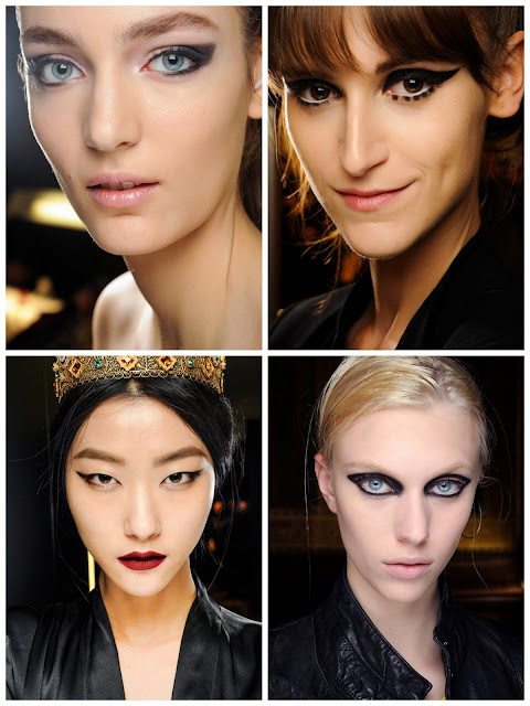 fall ready to wear 2013 beauty  Michael Kors, Anna Sui  Dolce and Gabbana, Lanvin