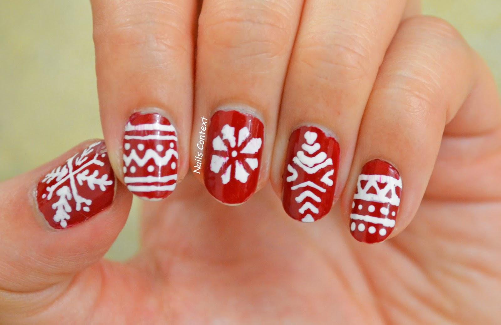 Nails Context Holiday Series Christmas Sweater Nail Art
