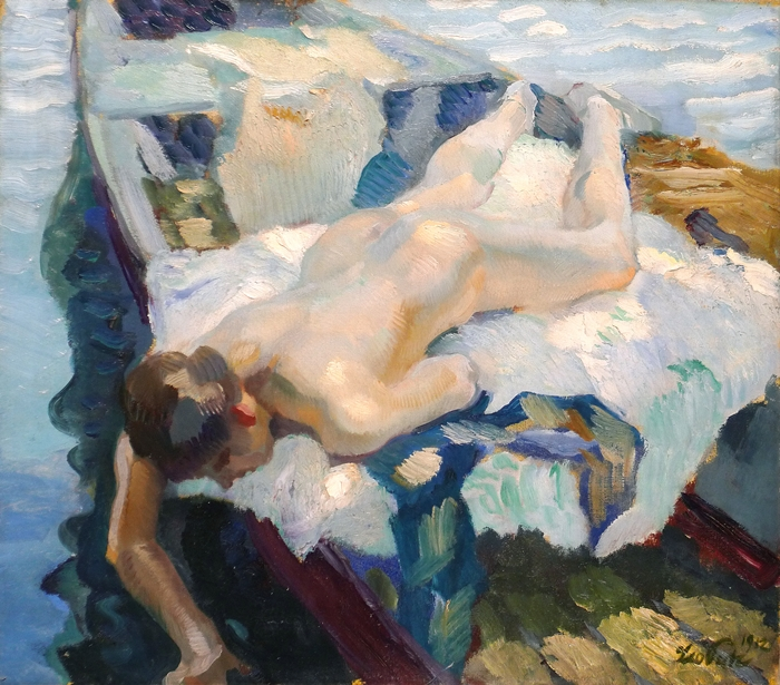 Leo Putz 1869-1940 Italian-born German Impressionist painter | The Summer Dreams