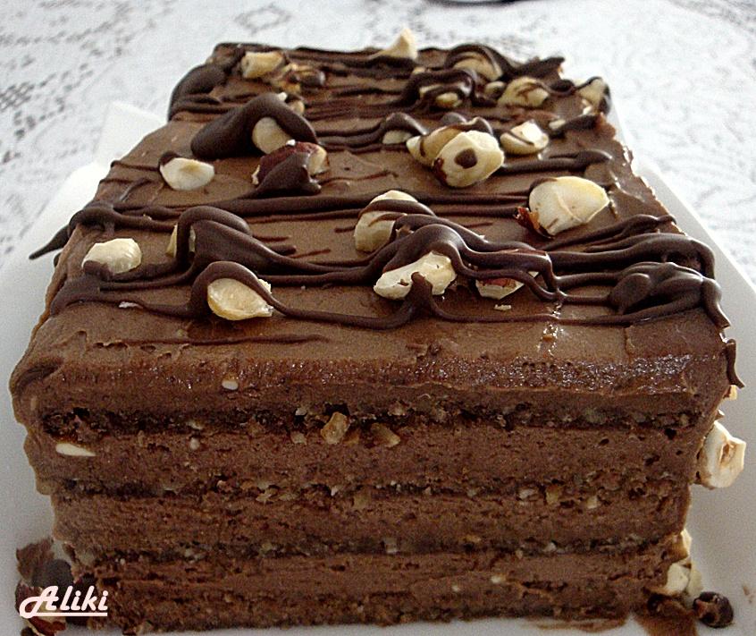 Širli Templ torta - torta od čokolade i lešnika