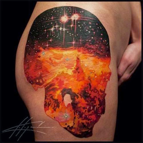 Beautiful & Vibrant Cosmic Tattoos
