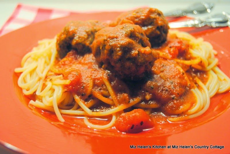 Italian Meatballs with Sauce  at Miz Helen's Country Cottage