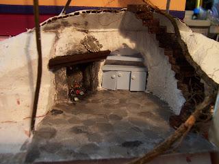1//12 scale Handmade Bibliothèque pour miniature dollshouse ou roombox