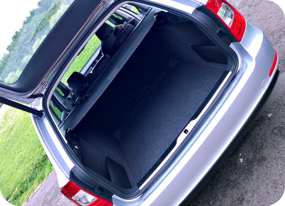 The huge Skoda Superb boot