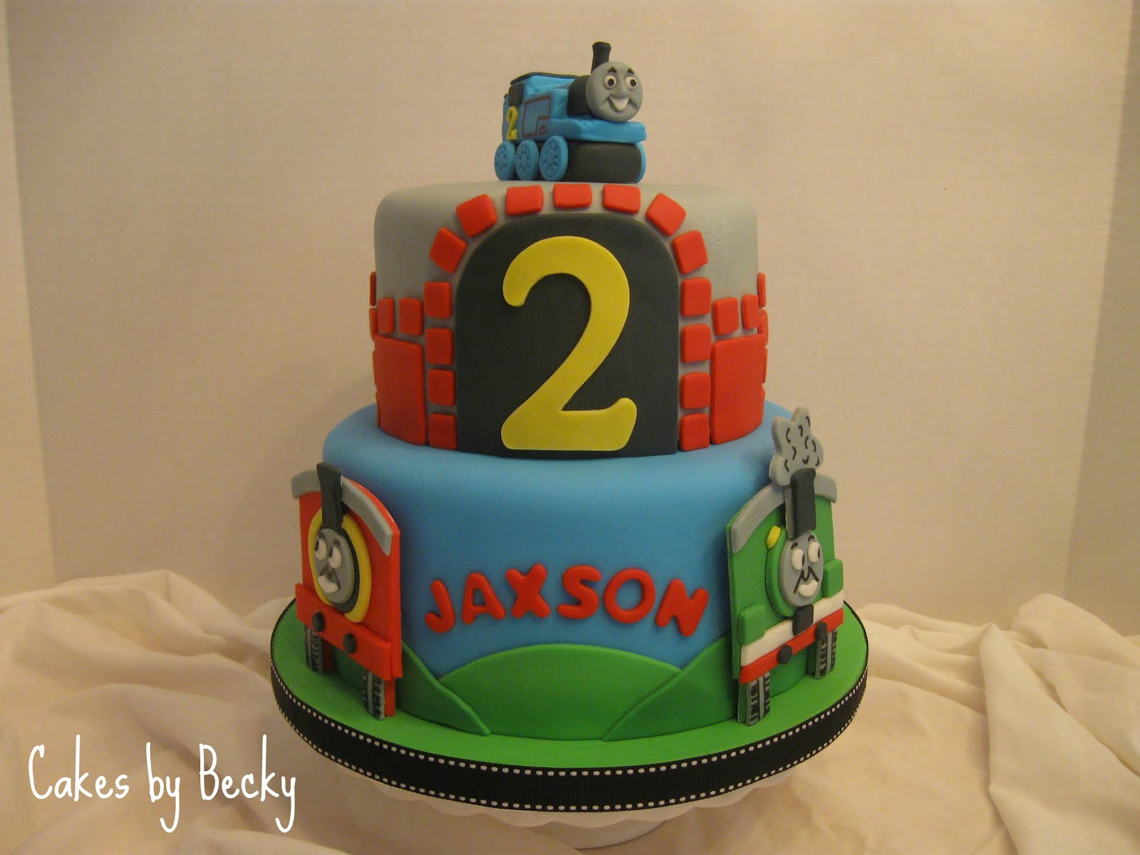 Cake Images Of Thomas The Train : Cakes by Becky: Thomas the Train Birthday Cake