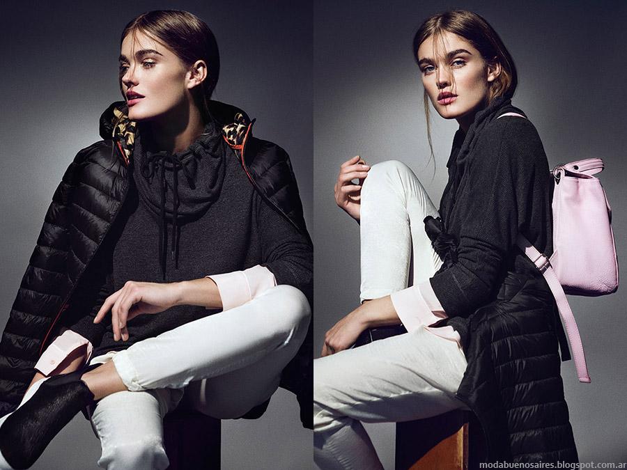 Camperas invierno 2015 ropa de mujer. Moda invierno 2015.