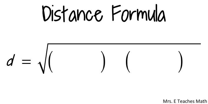 How I Teach the Midpoint and Distance Fomula – Midpoint and Distance Formula Worksheet