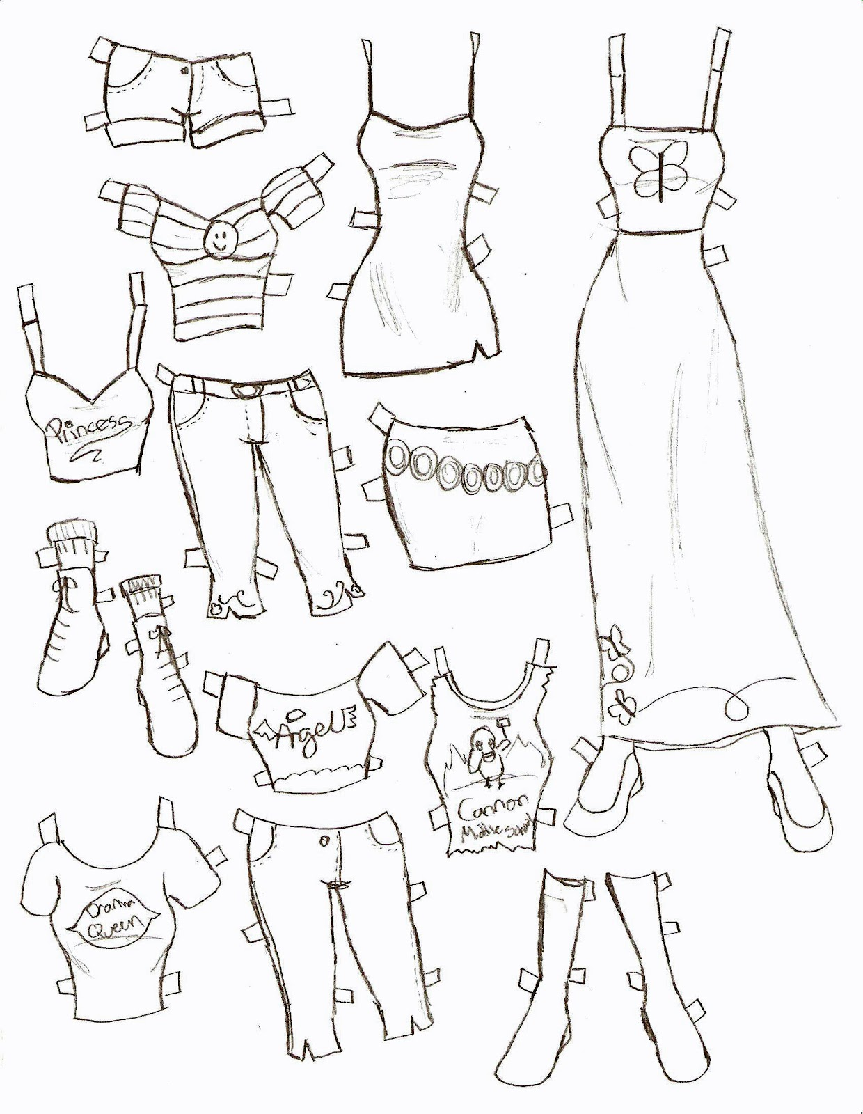 Miss Missy Paper Dolls: Clothes Part 1