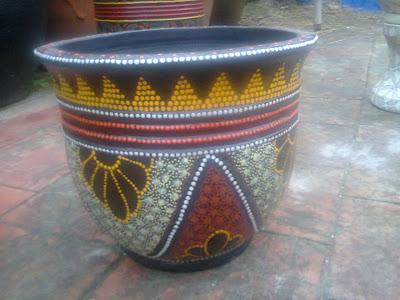 Pot Batik gerabah