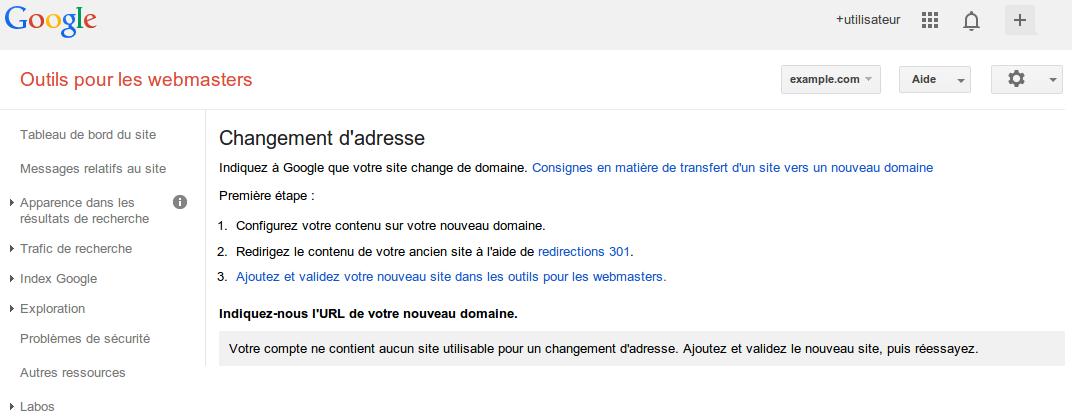 migration de site vu par Google