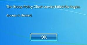 error group policy service failed the logon