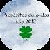 Propositos cumplidos año 2013