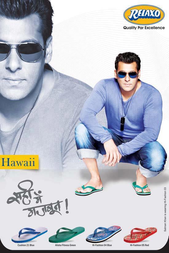 Pics - Salman Khan - Relaxo Hawaii Footwears
