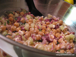Gluten Free Greek-Style Chickpea Salad