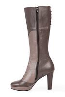 Cizme grej cu kaki din piele naturala model CM58