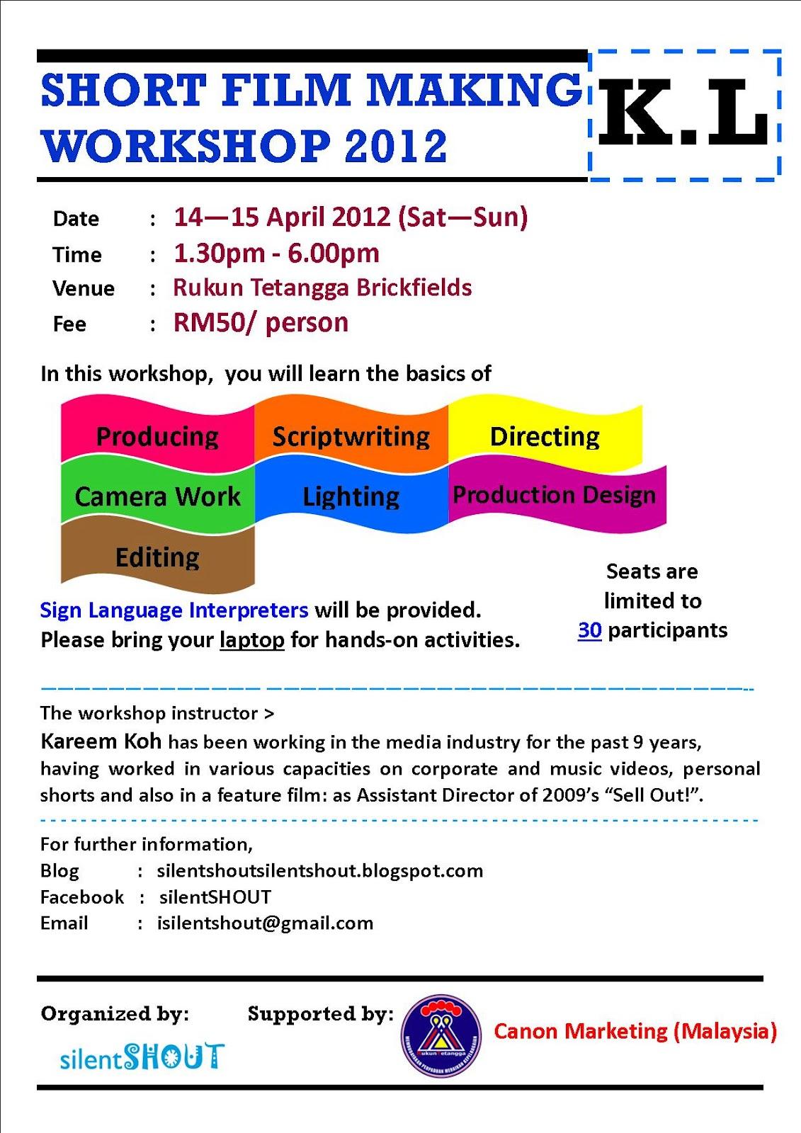 Silentshout Short Film Making Workshop Kl April 2012