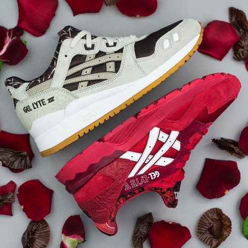 Asics Tiger zapatillas deportivas para San Valentín rosas y chocolate