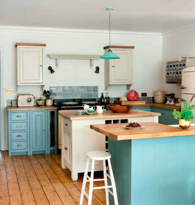 Little Turquoise and Aqua Kitchen Inspiration