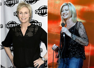 Jane Lynch and Olivia Newton-John