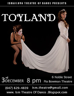 Toyland by Ismailova Theatre of Dance premiere Toronto, Pia Bouman Studio Theatre, December 3, 2011, by artjunction.blogspot.com