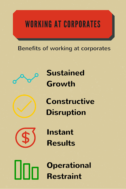 Corporates Over Startups : Working For Corporates