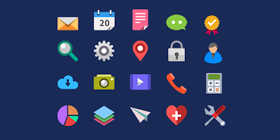 20 Flat Icons (PSD)