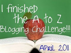 Blogging from A to Z Winner's Badge 2011