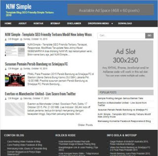 NJW simple blogger template fastest loading seo