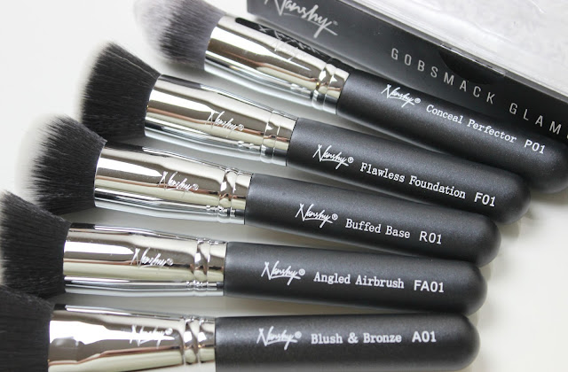 A picture of cruelty-free and vegan-friendly Nanshy Gobsmack Glamorous Black Onyx Brush Set