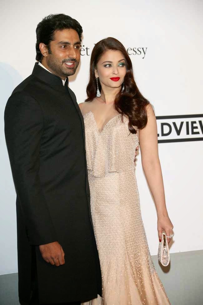 Aishwarya Rai and Abhishek bachchan at cannes 2014