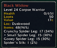 Black Widow Drop Rates