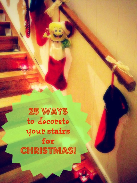 25 ways to decorate your stairs & banisters this Christmas!
