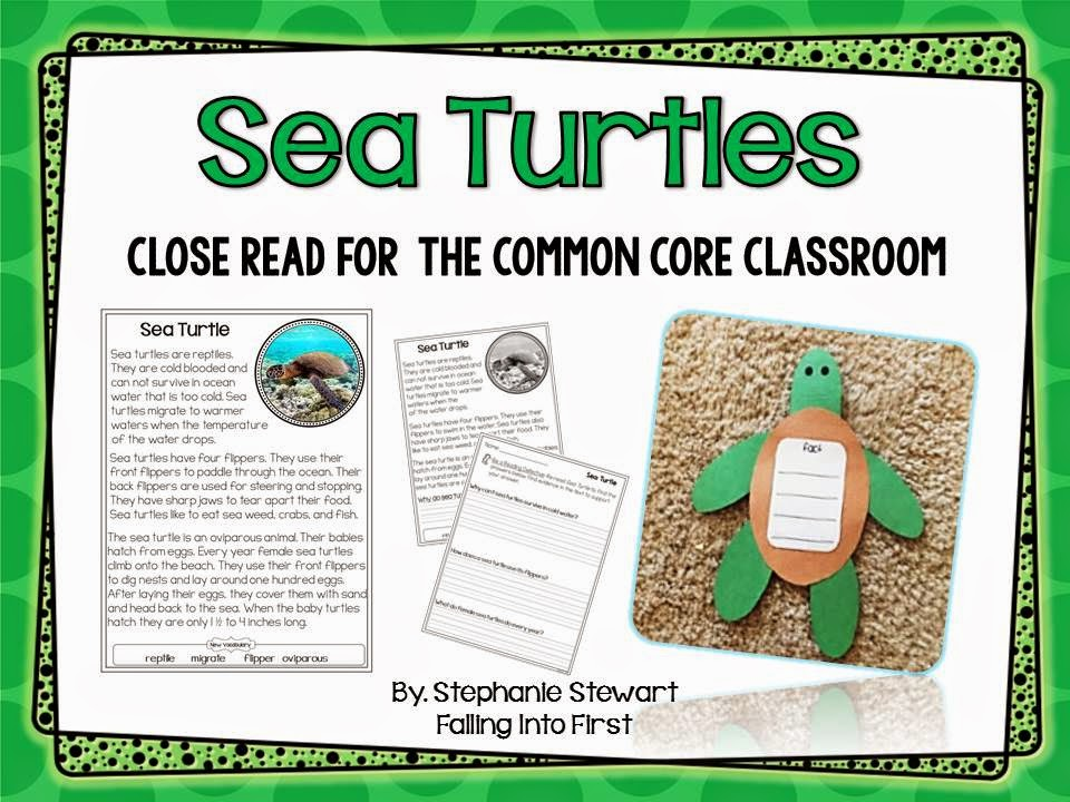 http://www.teacherspayteachers.com/Product/Sea-Turtles-Common-Core-Classroom-248492