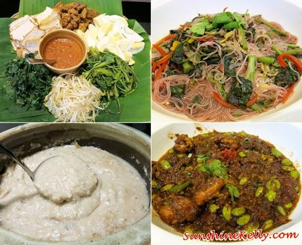 Gado-Gado, Red Spinach in Anchovies Stock,  Bubur Lambuk, Sambal Udang Petai, Ramadan Buffet, Chef's A List Malaysian Feast, Nook, Aloft Kuala Lumpur, malay dishes, malay food, malay traditional cuisine,