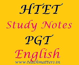 image : HTET Study Notes - PGT English @ TeachMatters