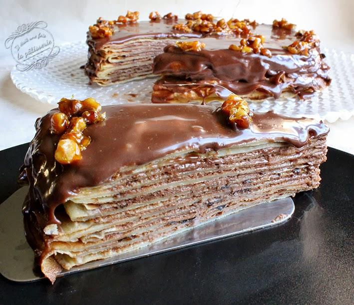 Gateau crepes chocolat orange